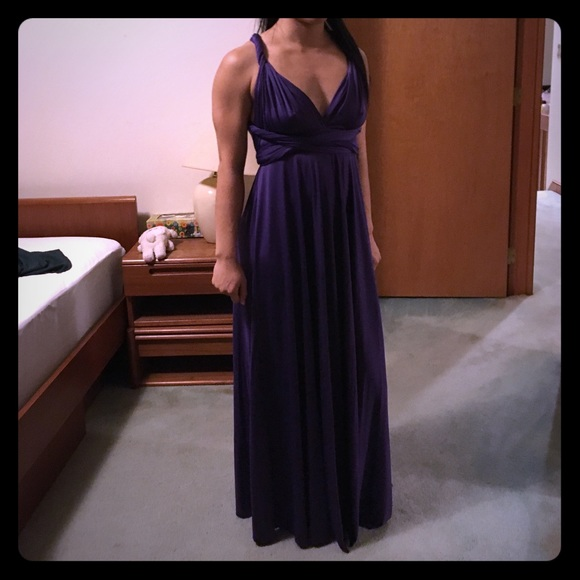 fd319deea016 DC Dress Dresses | Purple Infinity Multiway Wrap Dress | Poshmark